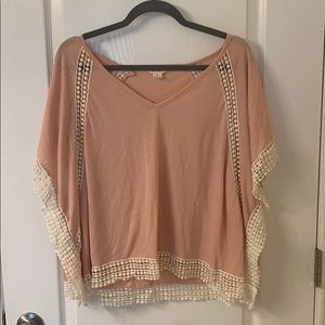 Poncho crop top